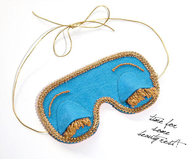 Breakfast At Tiffany's DIY Sleep Mask