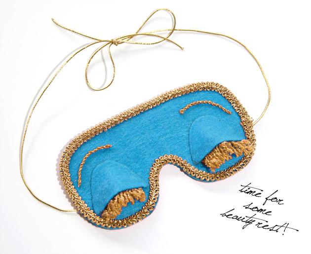 Breakfast At Tiffany's DIY Sleep Mask