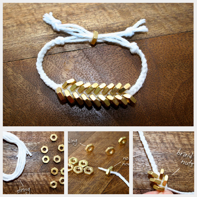 Braided Hex Nut Bracelet Diy