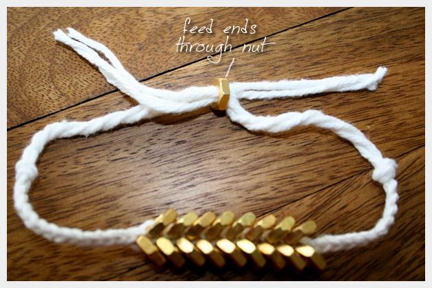Braided Hex Nut Bracelet DIY