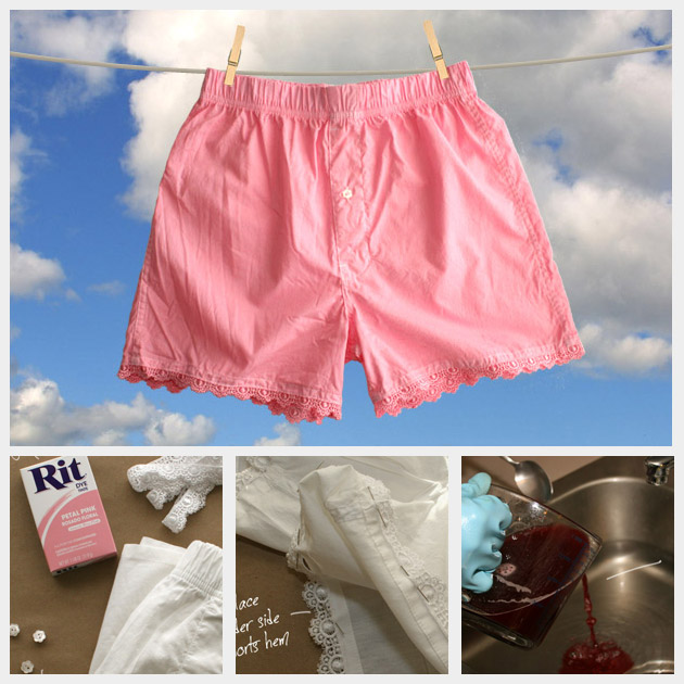 Lace Sleep Shorts DIY