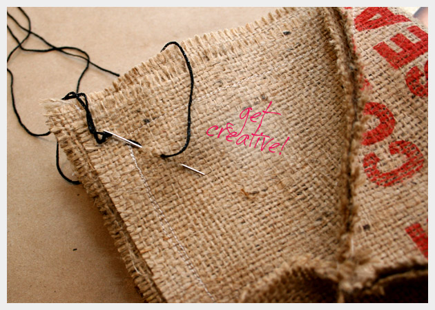 Coffee Sack Purse DIY