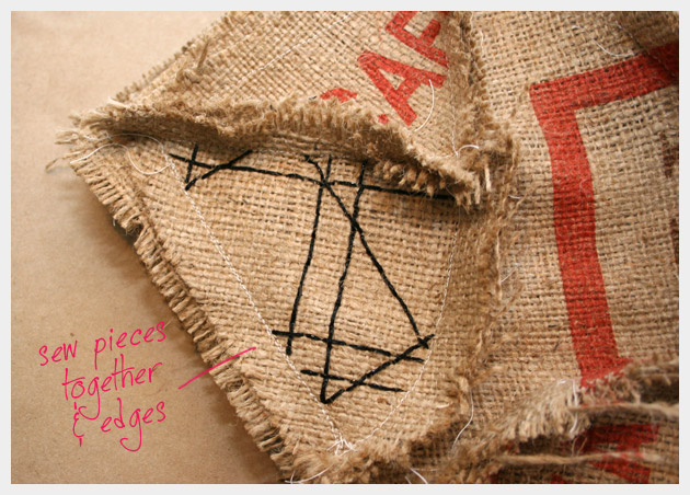 Coffee Sack Purse DIY
