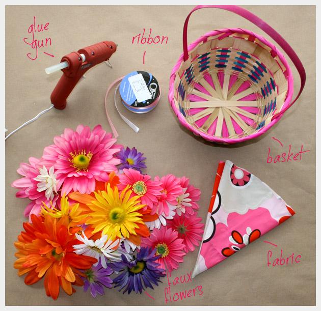 Floral Easter Basket DIY