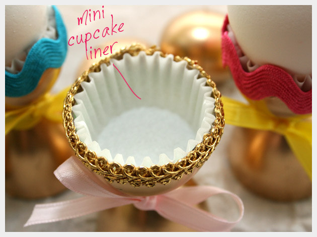 Golden Egg Cups DIY