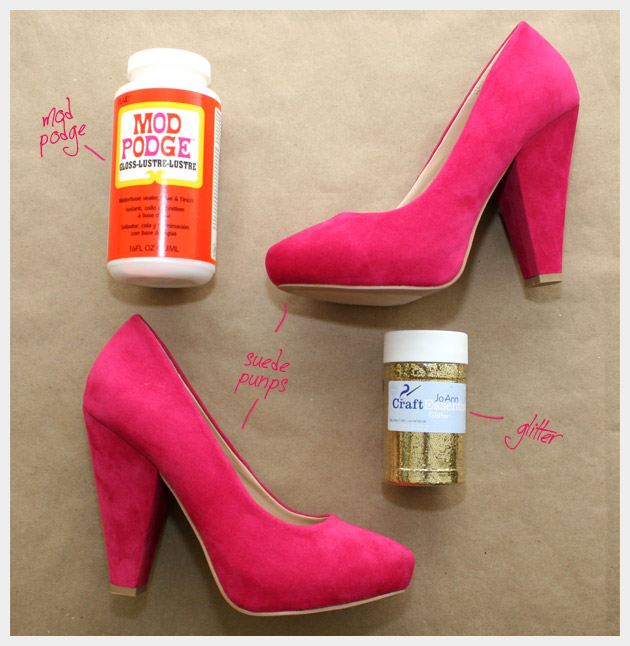 DIY Glitter Shoes