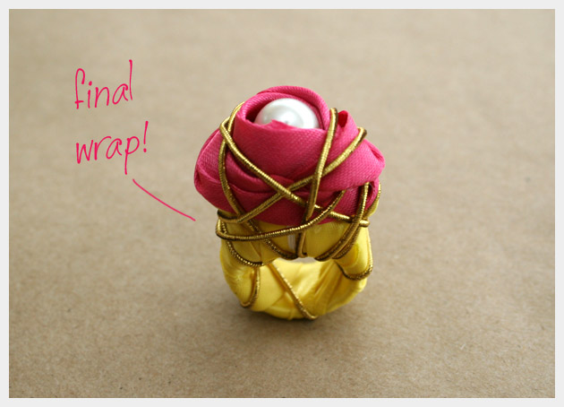 Ribbon Wrapped Ring DIY