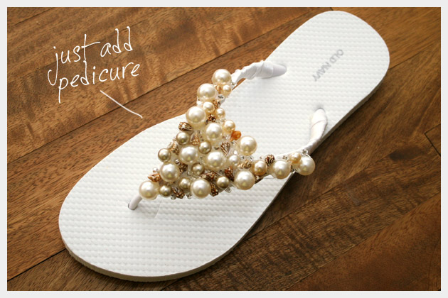 Beaded Flip Flop Sandal DIY