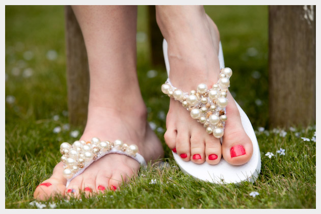 Beaded Flip Flop Sandal