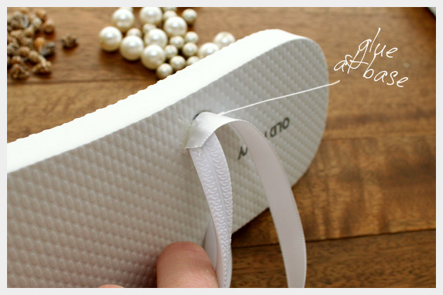Beaded Flip Flops How to