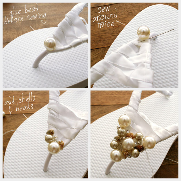 Beaded Summer Sandals DIY