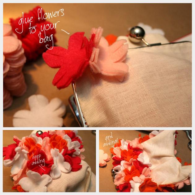 Floral Felt Clutch DIY