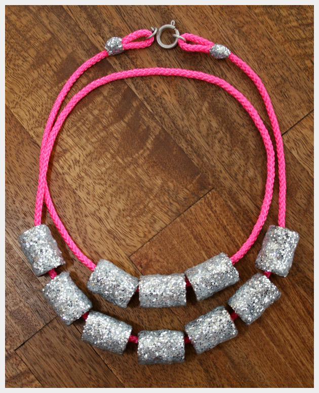Neon Cord Necklace DIY