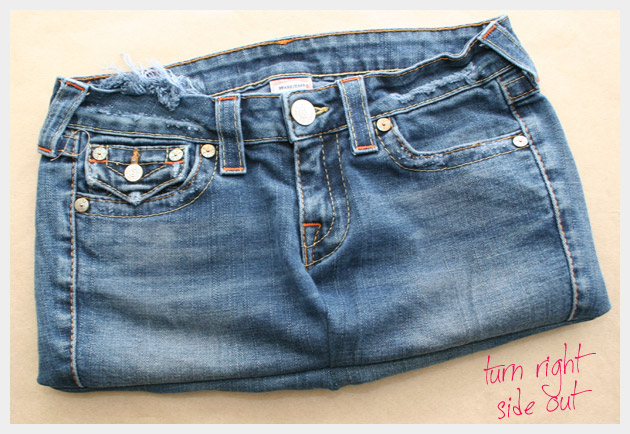 Recycled Jeans Bag DIY
