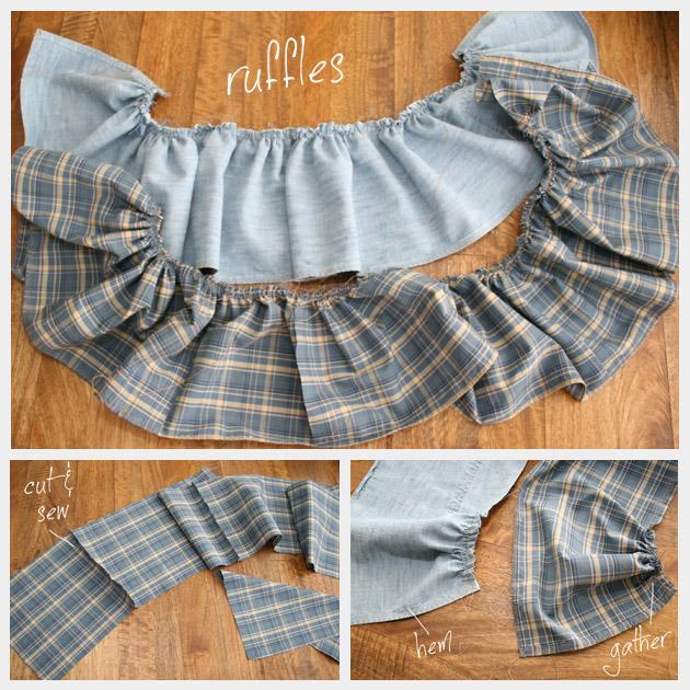 Recycled Ruffle Skirt DIY Ruffles