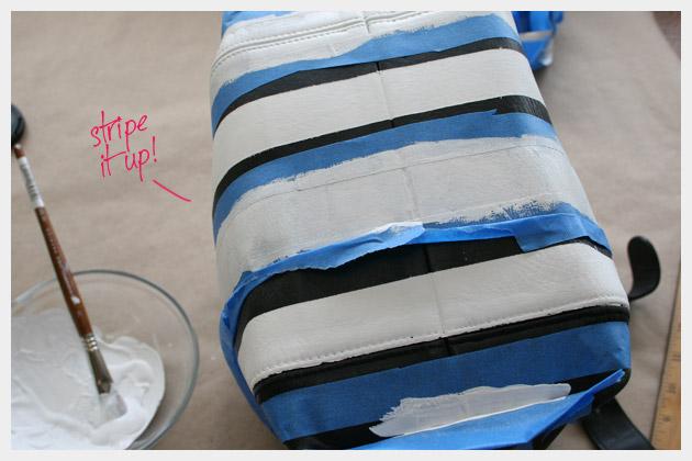 Striped Leather Purse DIY