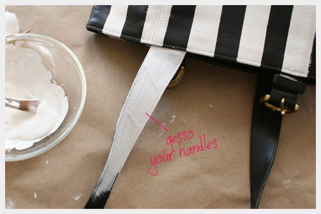 Striped Leather Purse DIY