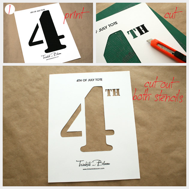 4th of July Tote Bag DIY Project
