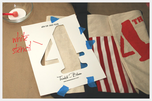 How to make a 4th of July Tote Bag