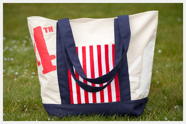 DIY 4th of July Tote Bag