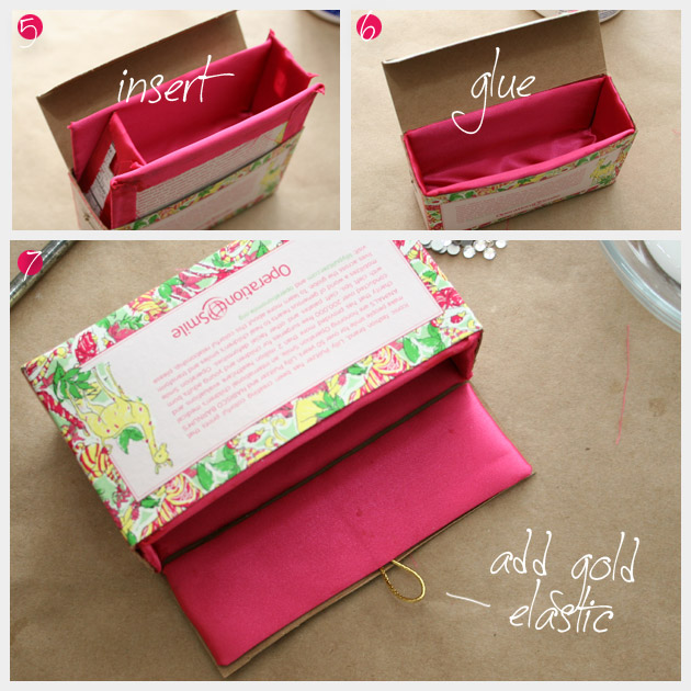 Photo Tutorial For Lilly Pulitzer DIY Cookie Box Minaudiere