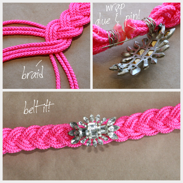 How to Make a Neon Rhinestone Belt