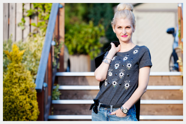 DIY Embellished T Shirt Project