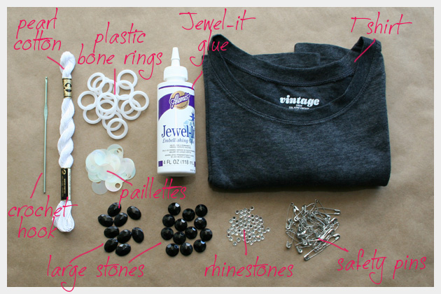 Supplies to make An Embellished T Shirt