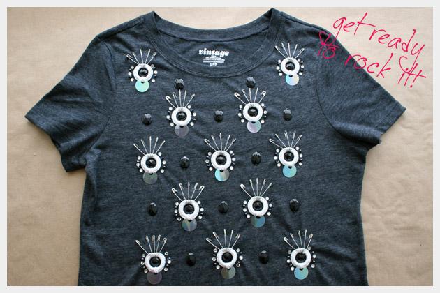 Embellished T Shirt DIY Project