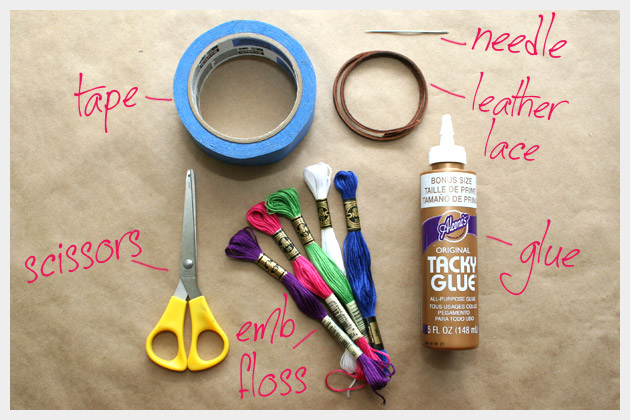 Supplies To Make DIY Leather Friendship Bracelets