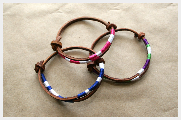 Leather Friendship Bracelets DIY Project