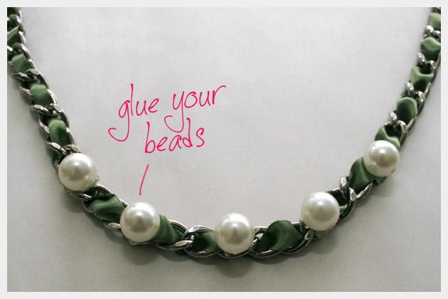 Ribbon Chain Bracelet DIY Project