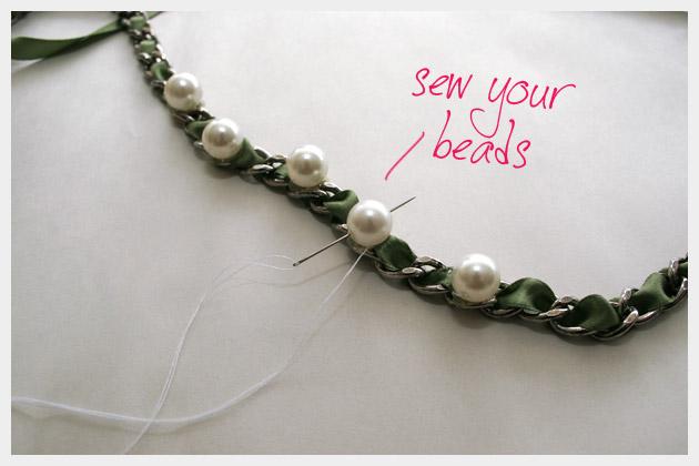 Ribbon Chain Bracelet DIY