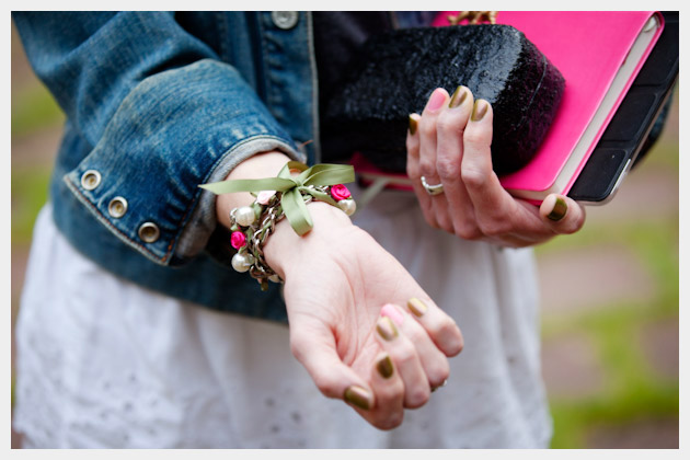 DIY Project Ribbon Chain Braclelet