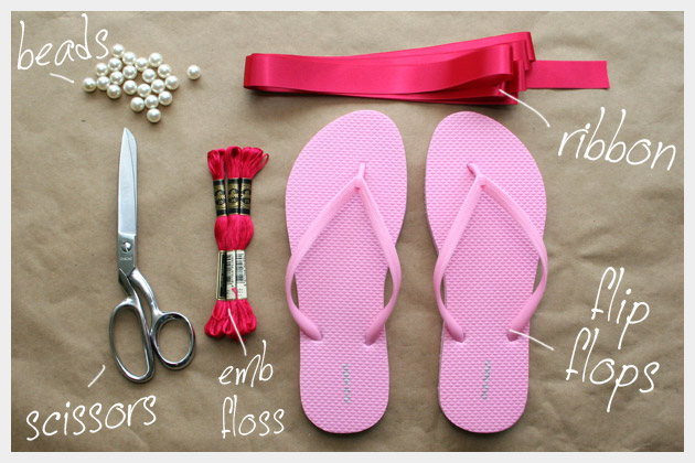 Supplies To Make Your Tassel Beaded Flip Flops