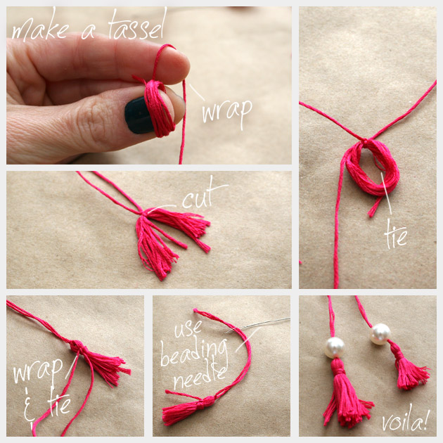 DIY Tassel Beaded Flip Flops