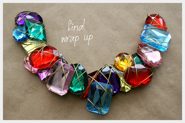 Wire Wrapped Jewel Necklace DIY