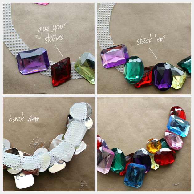 Large Stone Necklace DIY Tutorial