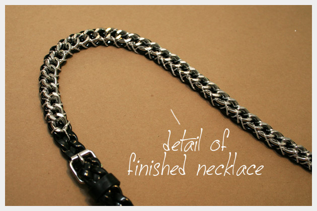 Chain Belt Necklace DIY Detail