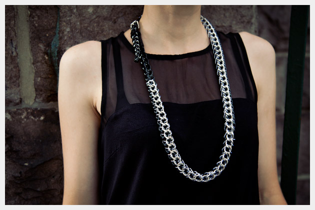 Chain Belt Necklace DIY Close Up