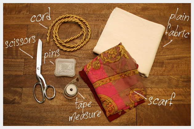 Scarf Bag DIY Supplies