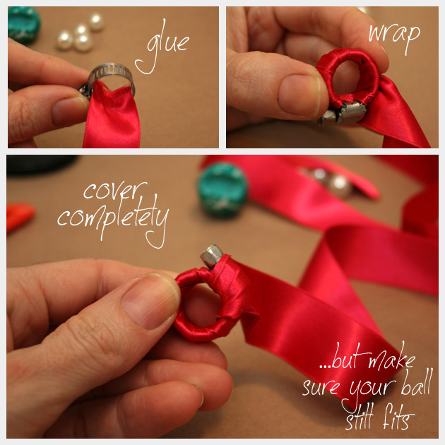 Cocktail Ring DIY With Ribbon
