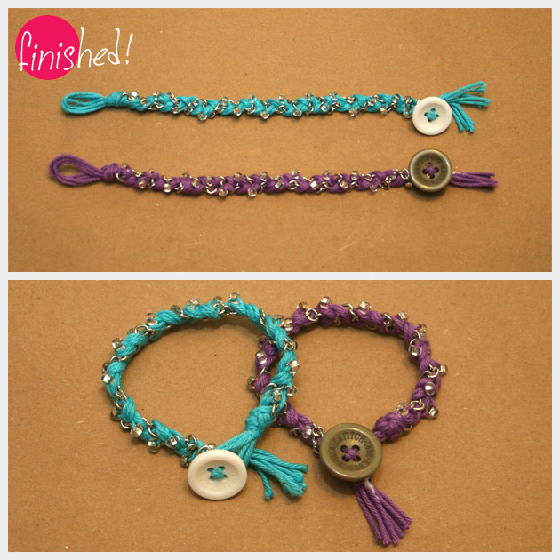 DIY Bracelets in Bonbons Yarn