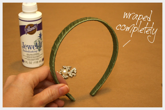 DIY Jeweled Headband Wrapped