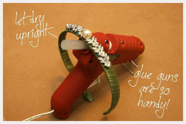 DIY Jeweled Headband Hot Glue Gun