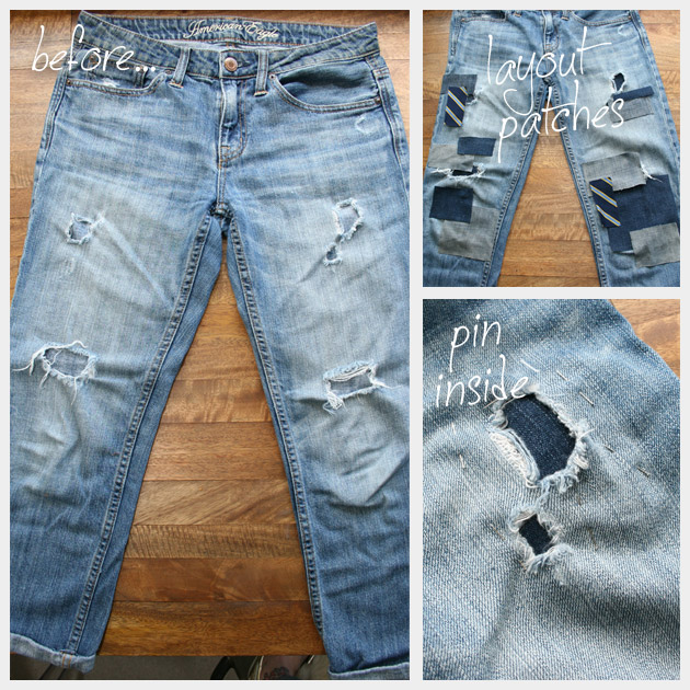 DIY Patched Jeans Tutorial