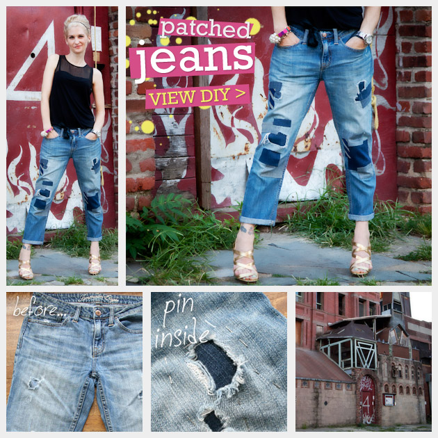 DIY Patched Jeans Feature