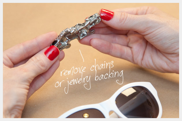 DIY Leopard Rhinestone Sunglasses