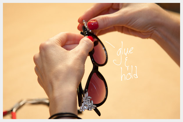 DIY Rhinestone Cat Eye Sunglasses