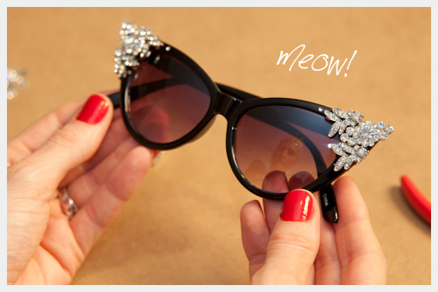DIY Rhinestone Sunglasses